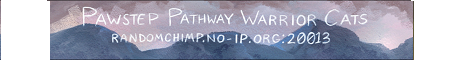 Pawstep Pathway Warrior Cats banner